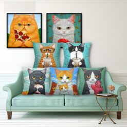 Decorative cat pillows