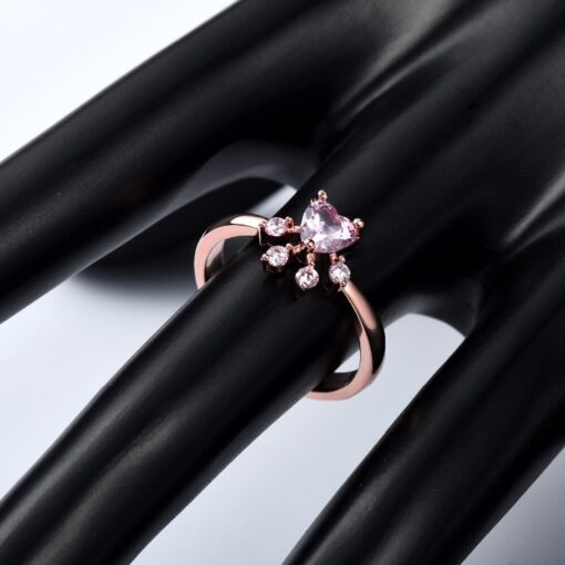 cat paw ring rose gold