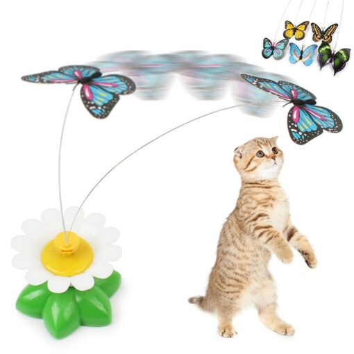 rotating butterfly cat toy