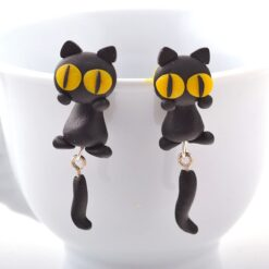 unique cat earrings