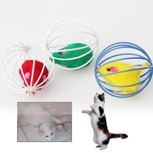cat toy ball with mouse inside