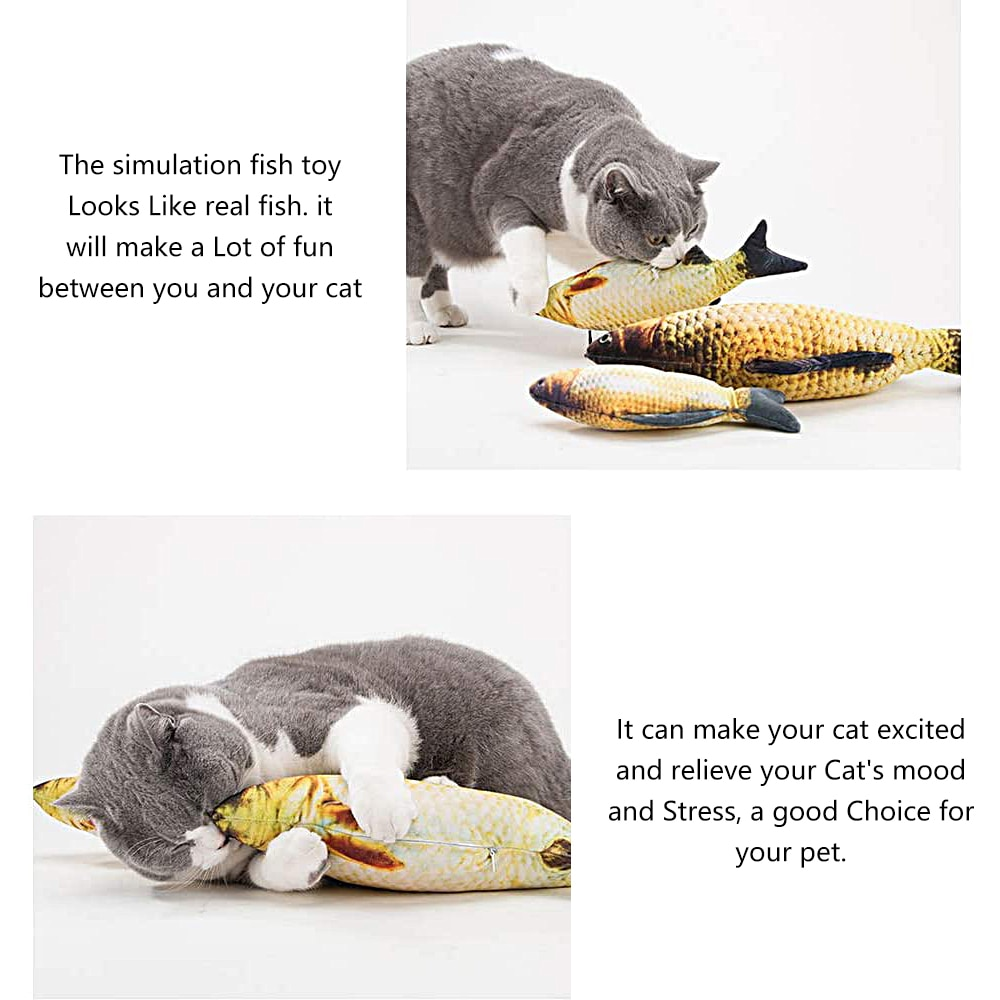 Interactive Electric 3D Fish fish Cat Toy