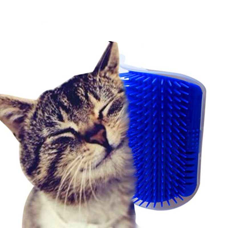 Pet Cat Self Groomer Brush With Catnip