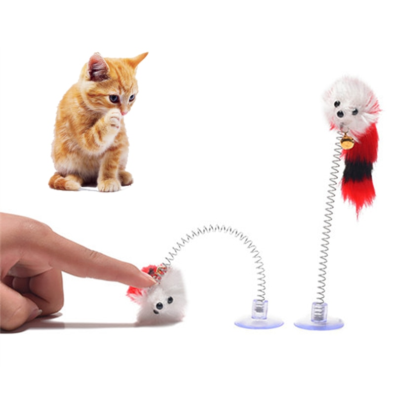 spring mouse cat toy
