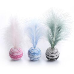 Ball with feather cat toy